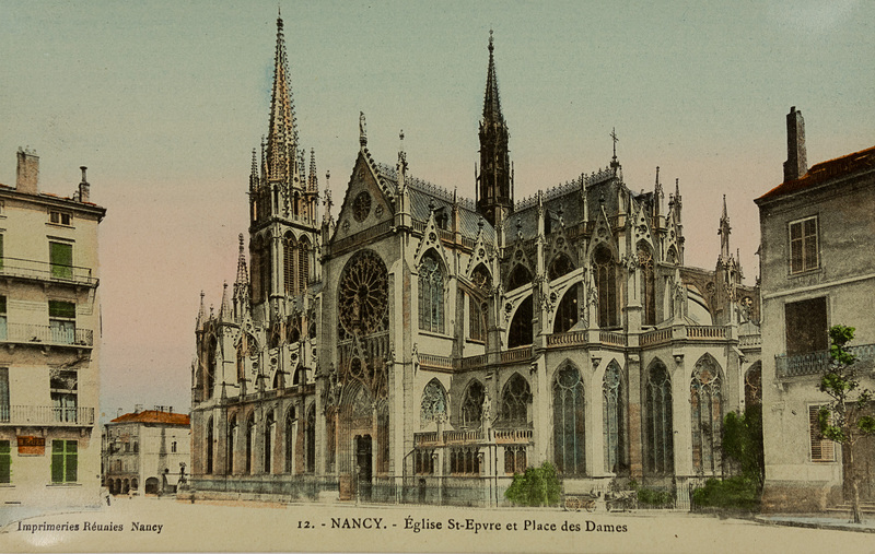 Nancy : Eglise Saint-Epvre et Place des Dames